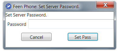 prompt to set password