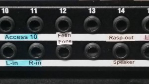 FeenPhone input on patch bay at GCN.